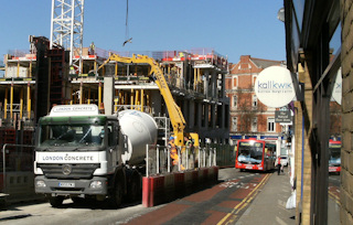 Shops affected by building works – Eton Street, Richmond